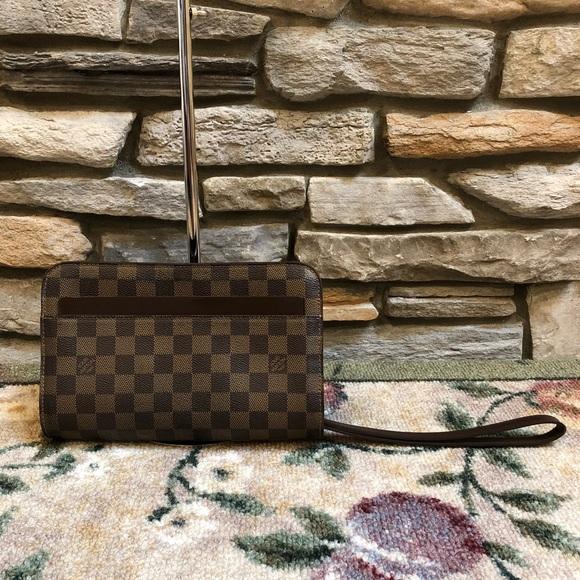 5e893b4c3833 Louis Vuitton Handbags - LOUIS VUITTON Damier Ebene Saint Louis Clutch